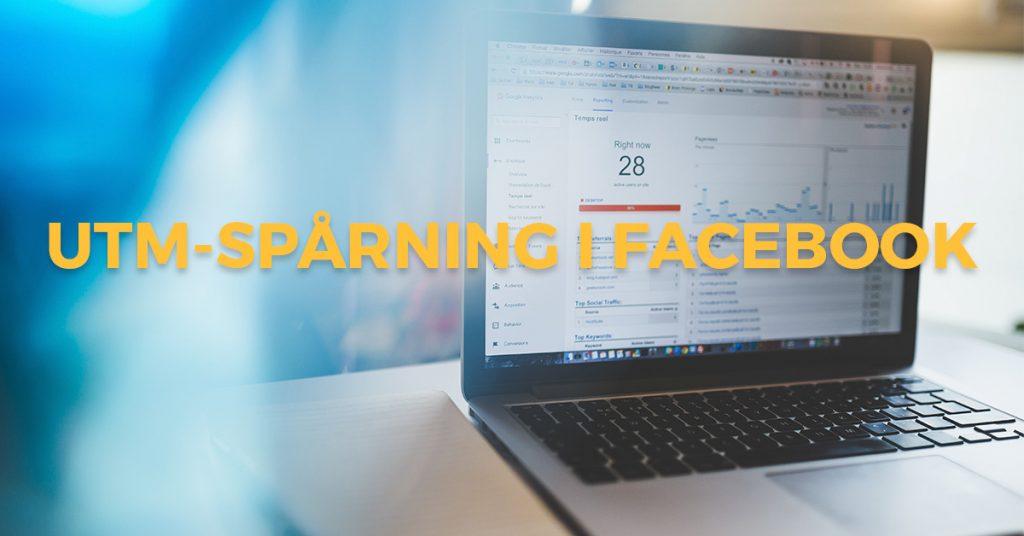 Bärbardator visar UTM-spårning för Facebook I Google Analytics