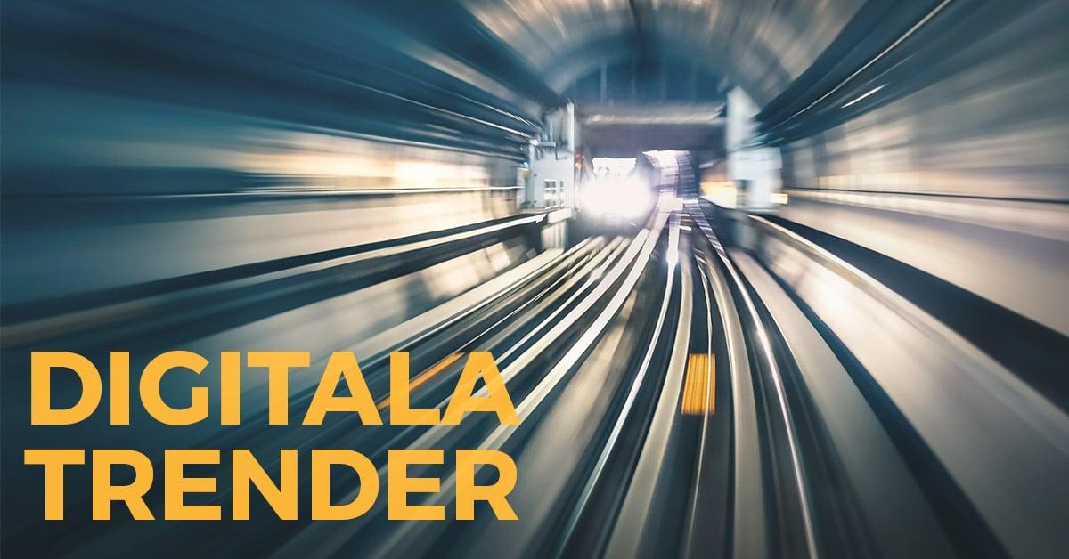 tåg i tunnelbana symboliserar en digital trend